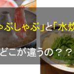「しゃぶしゃぶ」と「水炊き」の違いとは?似ているけど細かい点が異なるのさ。